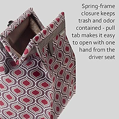 High Road TrashStash Hanging Car Trash Bag with Leakproof Lining and Spring Closure (Sahara): Automotive