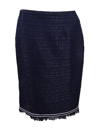 63ecc752fb Tommy Hilfiger Women's Fringe Pencil Skirt (6, Midnight) Navy at ...