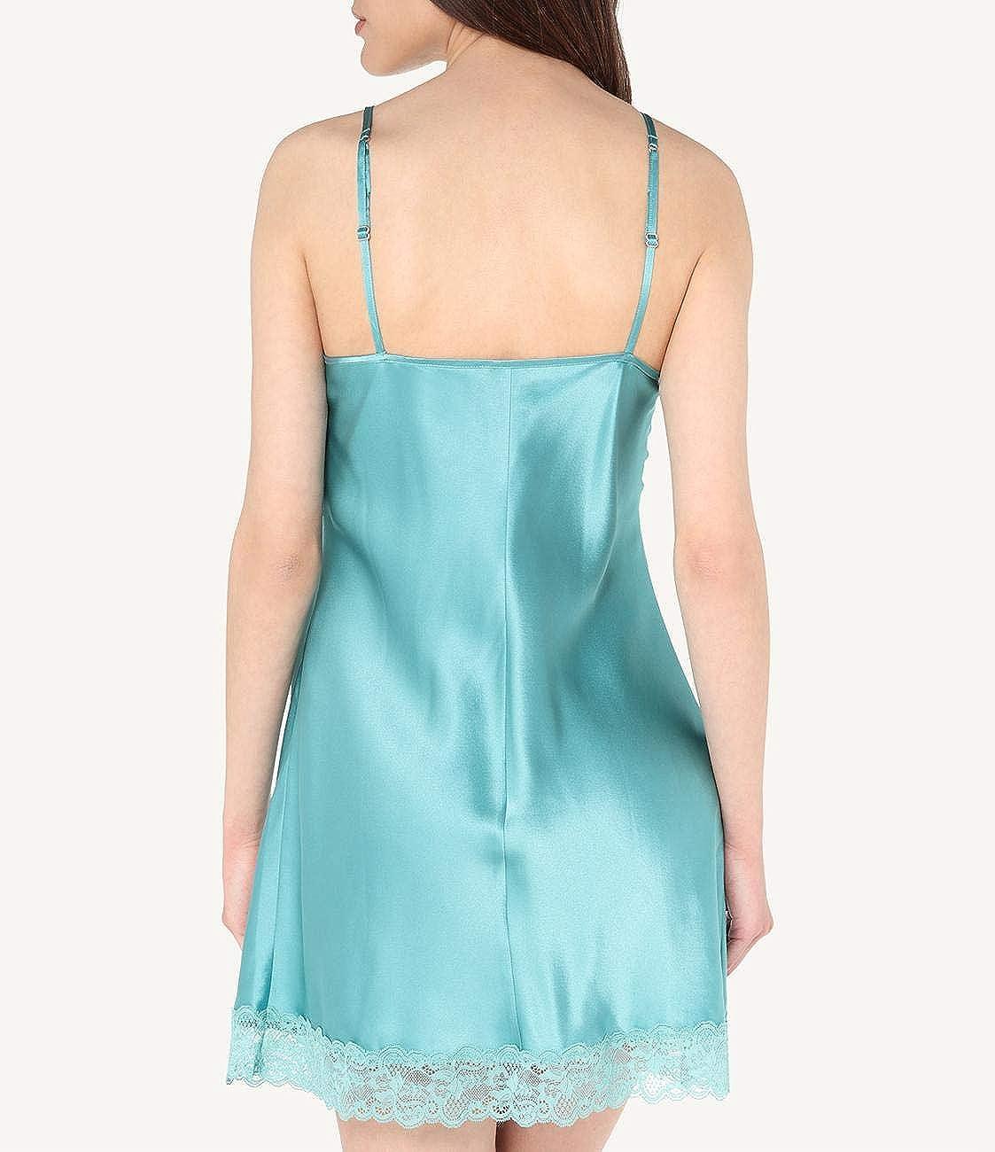 Intimissimi Damen Unterkleid aus Seide mit Spitzeneins/ätzen
