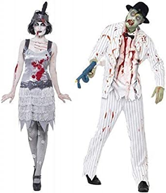 Mens Ladies Zombie Pirate Top Fancy Dress Costume Accessory Halloween Couples