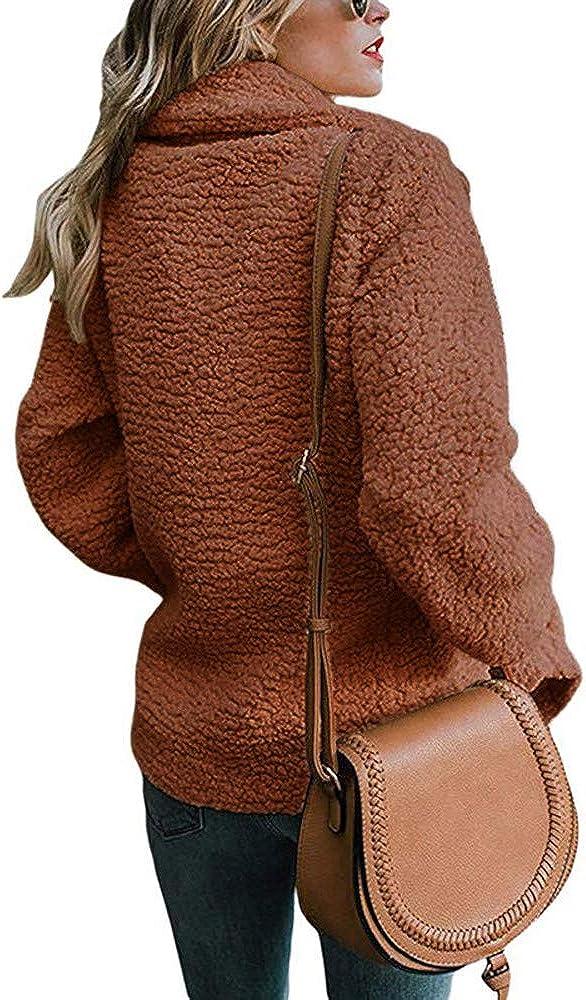 Kobay-women Womens Open Front Fuzzy Fleece Warm Winter Outerwear Cardigan