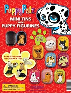 Puppy Palz Mini Tins with Puppy Figurines (250 Count.)
