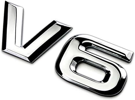 1 Pair of Big Sports Aluminum Alloy Badge Emblem Metal Sticker Racing 3D Logo #1