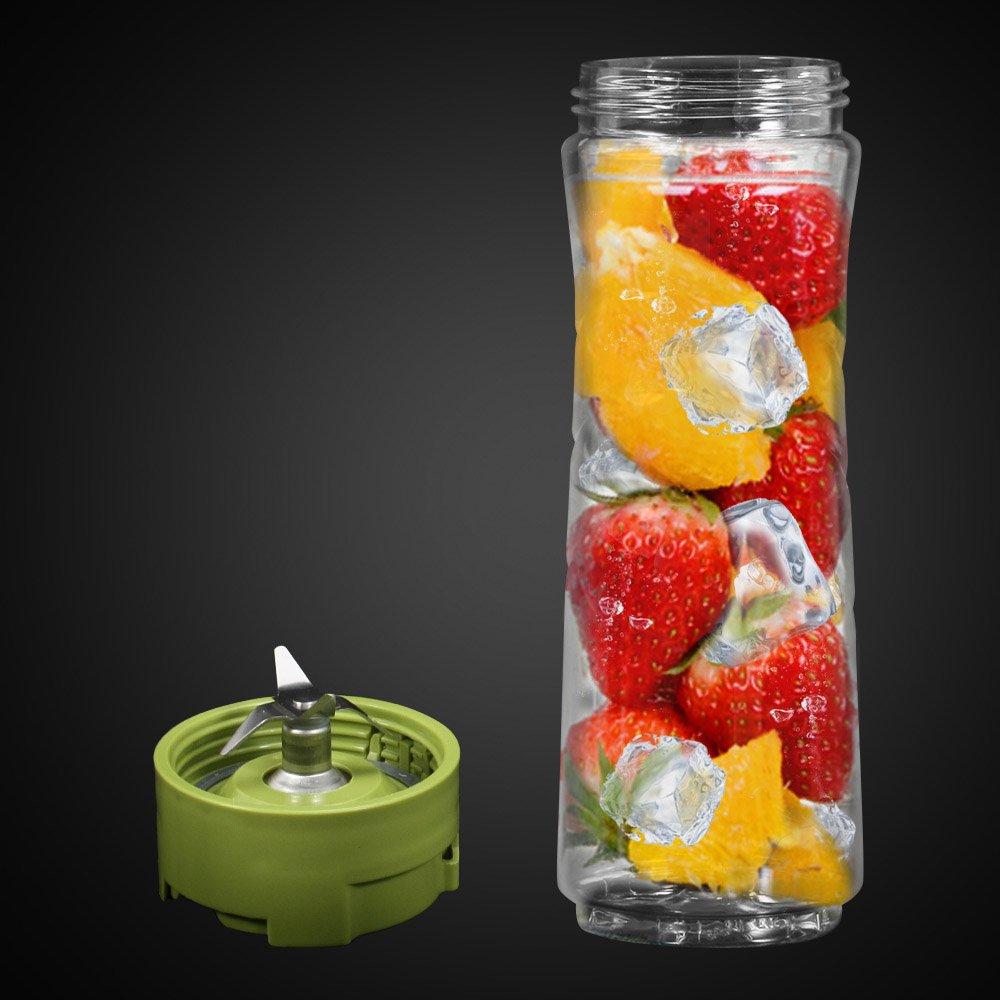 Mini Batidora, Batidora Smoothie, Portátil Batidora con 2 Botellas Tritan sin BPA 500ml y 1 de Molienda, para Batidos, Jugo (Fruta y Verdura), ...
