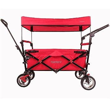 FUXTEC plegable carro FX SL-CT700 Rojo plegable con techo, rueda delantera y trasera