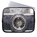 Eratio Old Black Camera Neoprene Laptop Sleeve 15 Inch Macbook Air Case Macbook Pro Sleeve and 15 Inch Laptop Bag