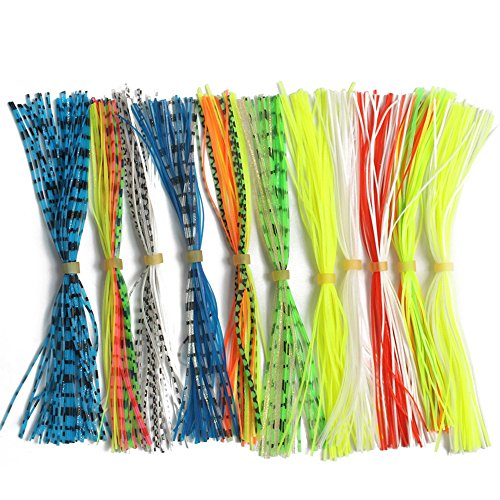 - Weituoli Silicone Jig Skirts Fishing Bait Accessories Fishing Jig DIY Spinnerbaits Buzzbaits Spoon Blade Squid Skirt Replacement Fly Tying Material