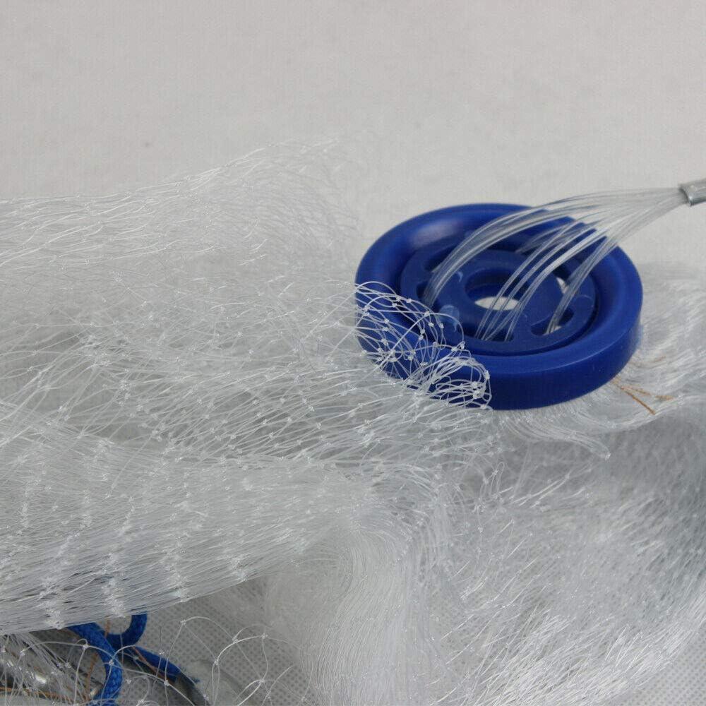 Red de Lanzamiento para Pesca di/ámetro de 5,4 m WUPYI2018 Adecuada para Agua Salada y Dulce Malla de Nailon multifilamento con espelta