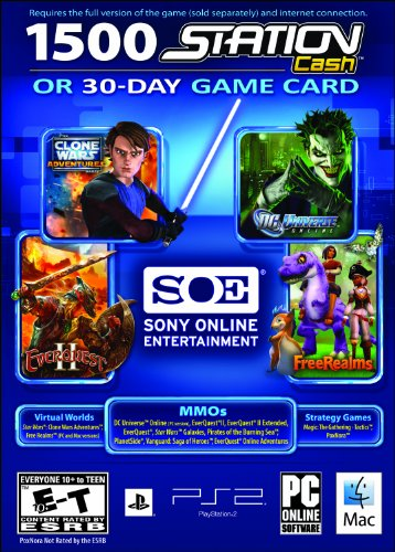 SOE 30 Day Universal Game Card or 1,500 Station Cash, Best Gadgets