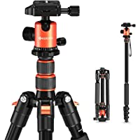 "GEEKOTO 58"" Ultra Compact Lightweight Aluminum Tripod with 360° Panorama Ball Head for DSLR, Monopod, Tripod for OSMO…"