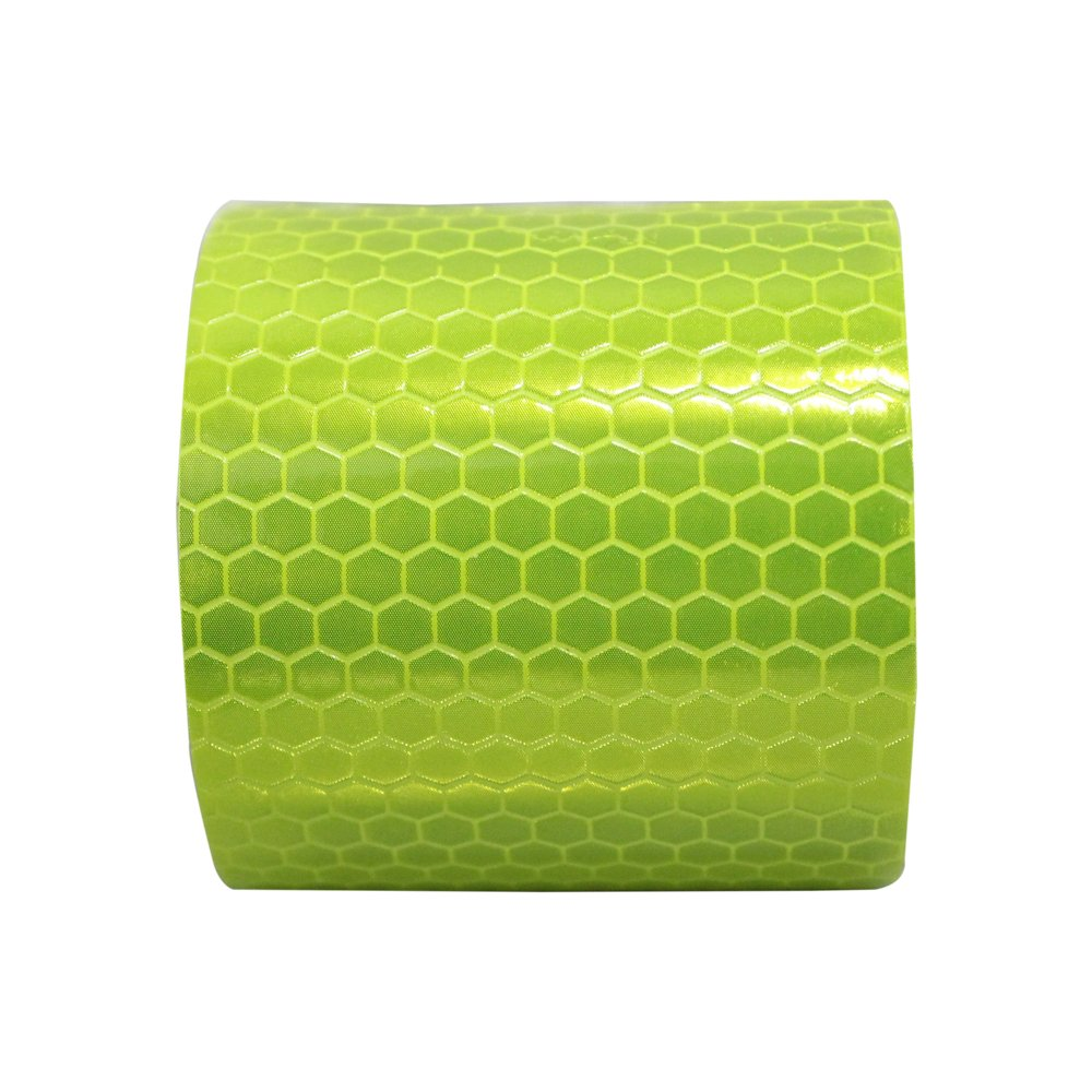 Reflective Tape Yellow 2/″X9.8/′ For Trucks Trailers Car Park Traffic Warning Caution Conspicuity Tape Waterproof Self-Adhesive Reflector Tape-Reflective Tape