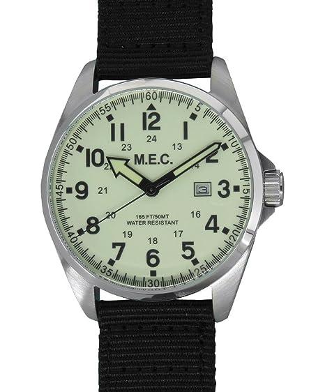 Reloj hombre Vintage cuarzo acero militar deportivo Buceo Idea regalo: Amazon.es: Relojes