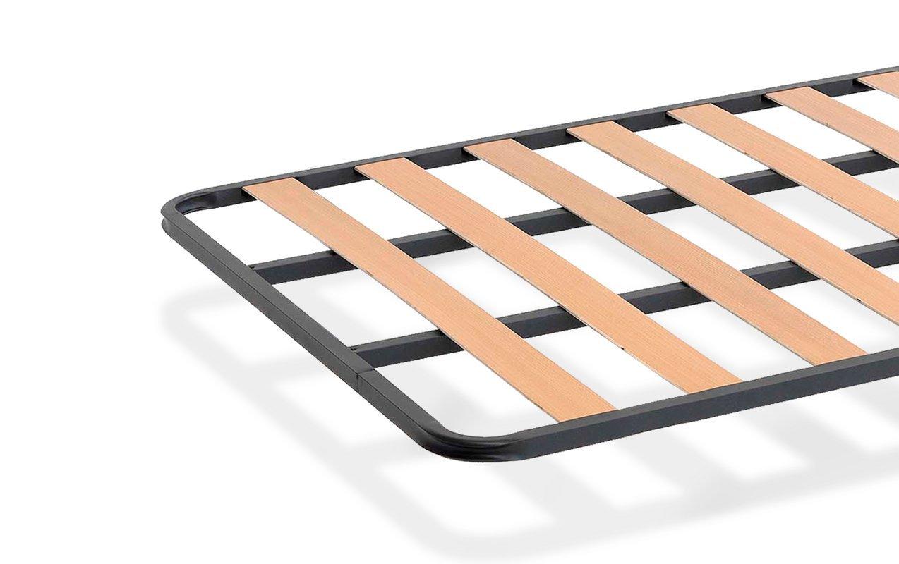 KAMA HAUS SOMIER de lámina Ancha Estructura de 30x30   90 x 190 cms.  Láminas de Chopo   Compatible con Patas cuadradas con Abrazadera (No Incluidas) ...