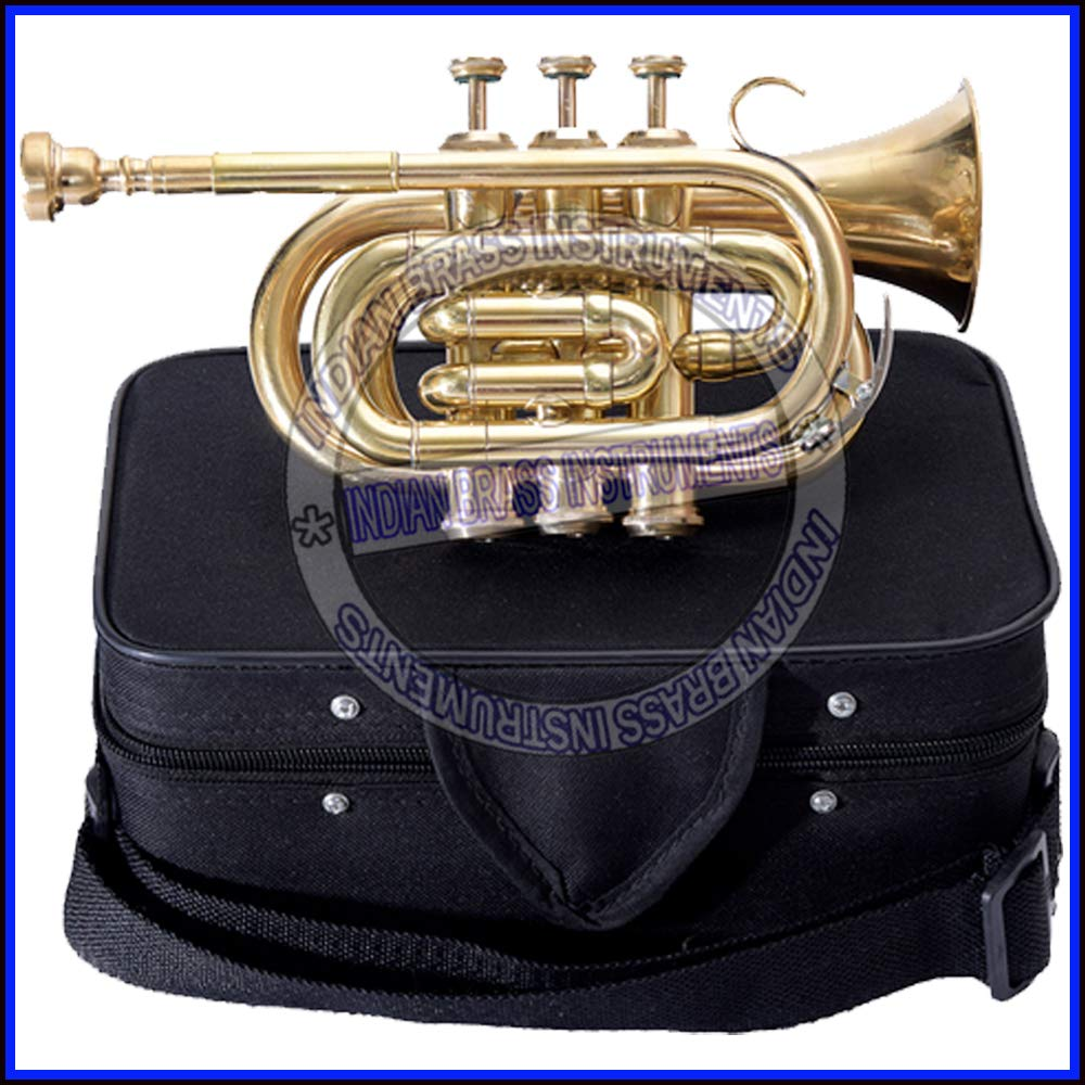 Nasir Ali PoTr-05, Pocket Trumpet, Bb, Brass