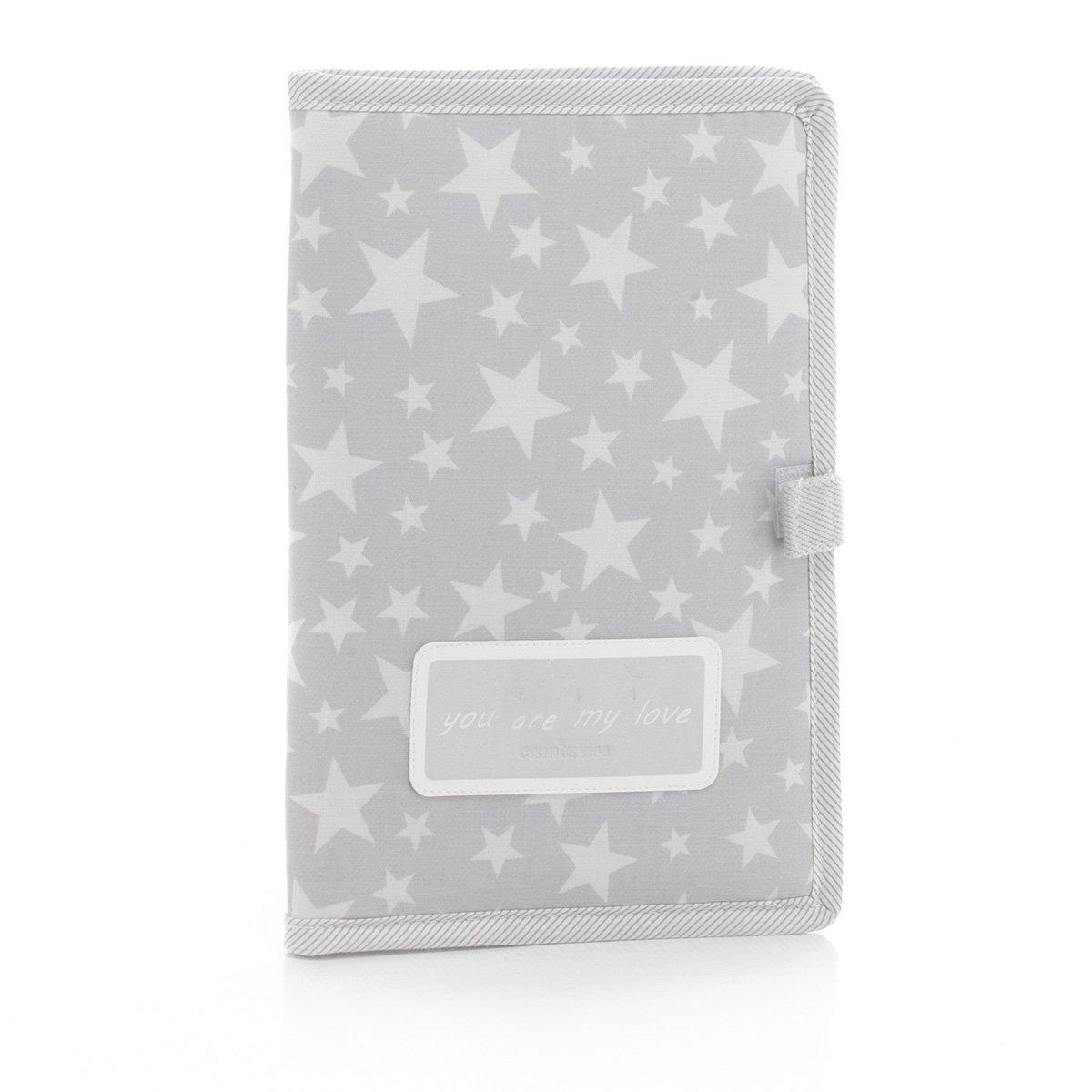 Cambrass Protège-Carnet de Santé Star Gris 3 X 17 X 25 cm 35483.0