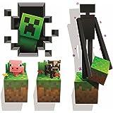 Minecraft vinyl wall graphics Creatures 4-pack Créatures graphiques muraux en vinyle Minecraft 4-pack