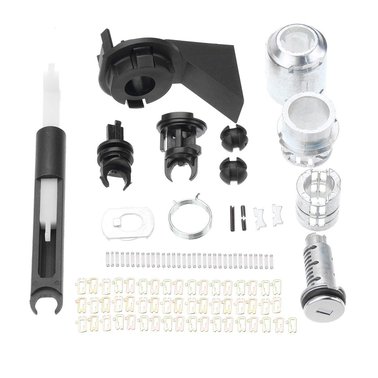 Bonnet de dé verrouillage Kit de ré paration pour Ford mentonnet Focus MK2 2004-2012 1.355.231 Serrure de Porte Ré paration Kits d'outils Set Bellaluee
