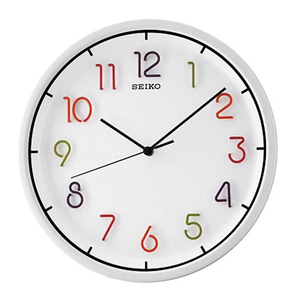 Buy seiko wall clock 318 cm x 318 cm x 45 cm white qxa447hn buy seiko wall clock 318 cm x 318 cm x 45 cm white qxa447hn online at low prices in india amazon amipublicfo Gallery
