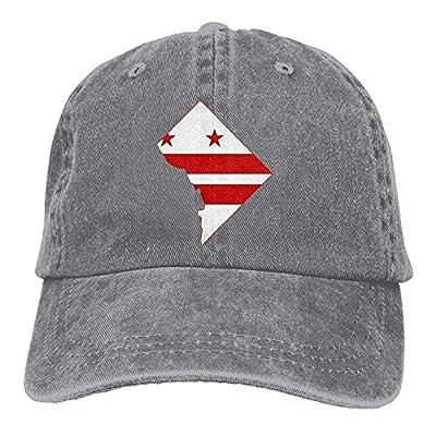 Denim Baseball Cap Flag Map of Washington DC Women Snapback Casquettes Adjustable Plain Cap