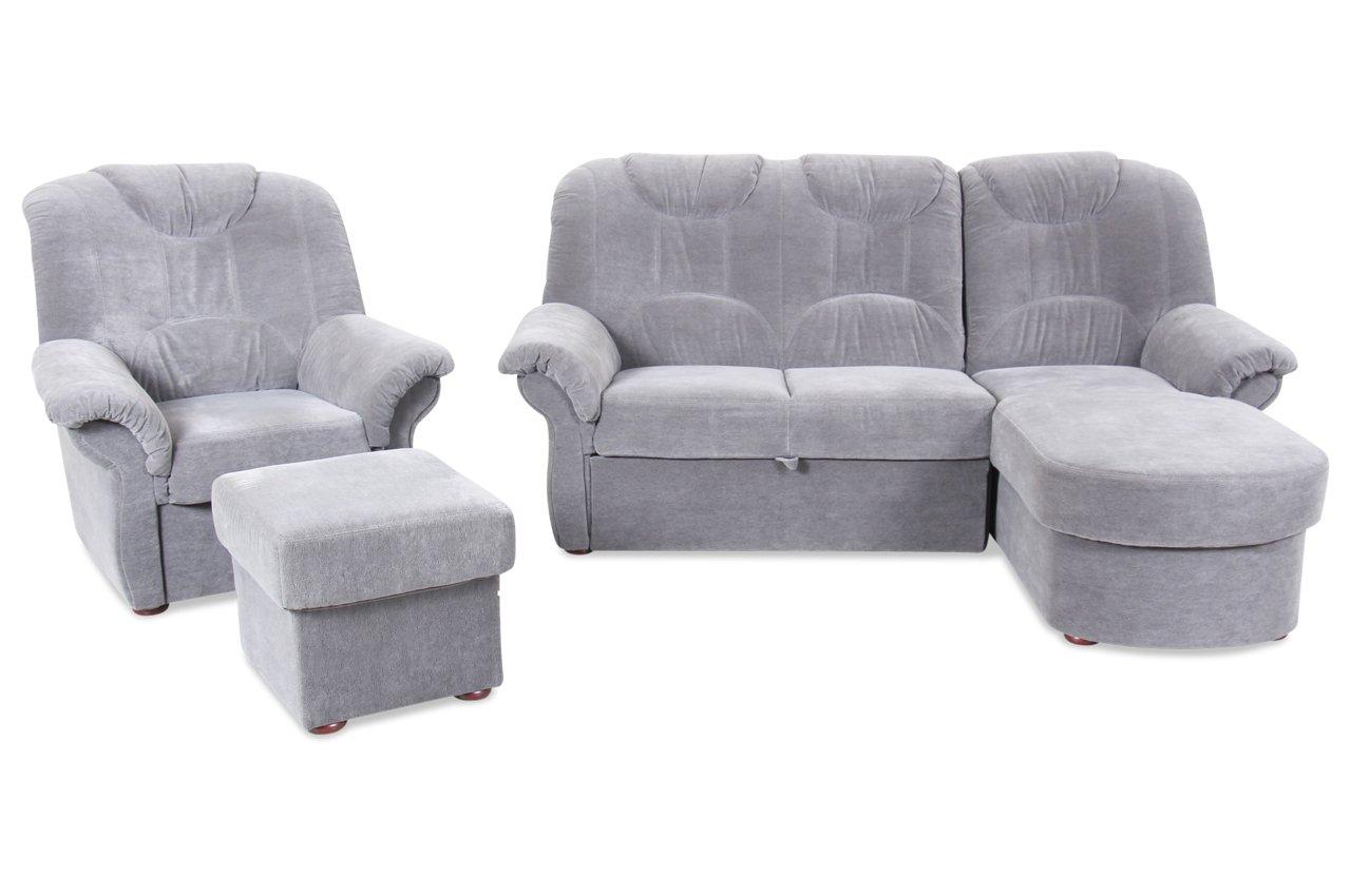 sofa matex ecksofa linus grau luxus microfaser grau kaufen. Black Bedroom Furniture Sets. Home Design Ideas