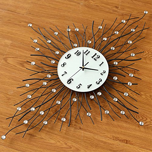 Amazon.com: WuuLii Decor Wall Clock- Decor Wall Clock- European Green Paint Numeral Wall Clock Novelty Decor Non Ticking Quality Quartz Wall Clock: Home & ...