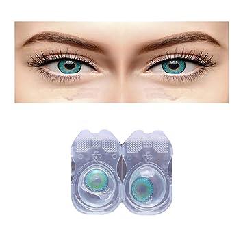 c794ad5f735 Sparkle Eye (Royal Aqua) Mothly Color Contact Lens Zero Power Contact Lens  Solution   Kit  Amazon.in  Beauty