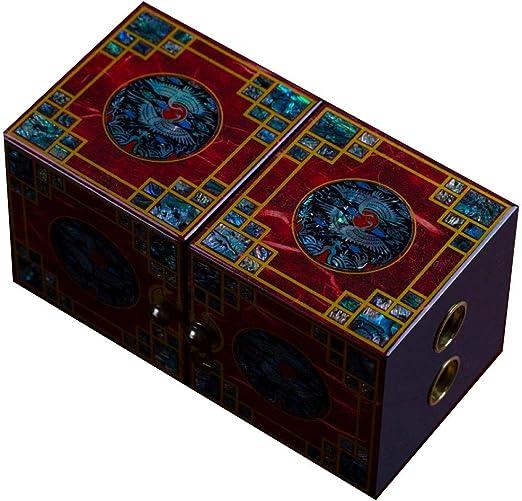 Laogg Caja Joyero Chino,Caja de joyeríacerradura de Caoba Caja de Almacenamiento China Cofre del Tesoro de Madera Maciza Retro Muebles y Regalos orientales: Amazon.es: Hogar