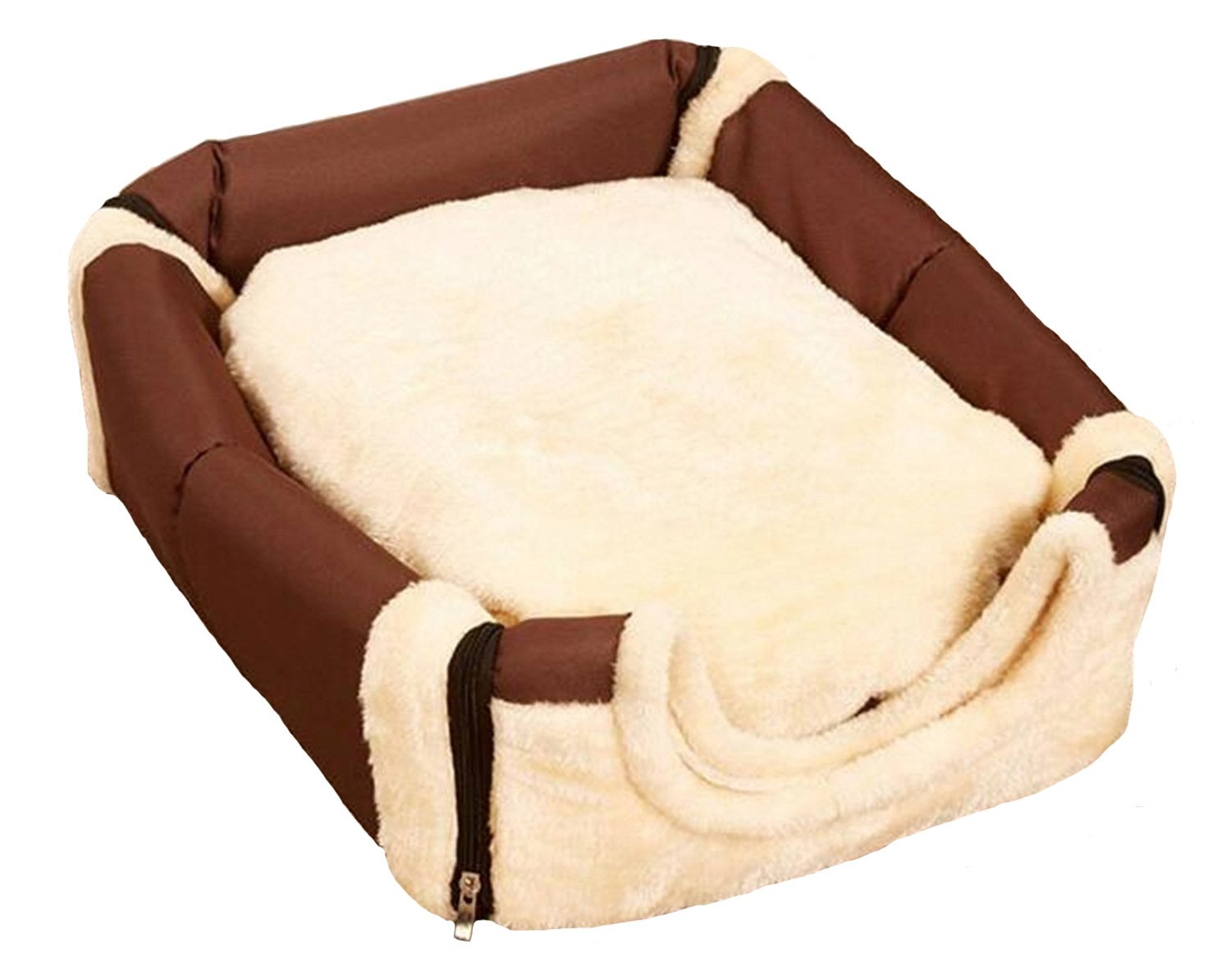 M G House Cozy Pet Dog Cat Cave, Portable Arch House Soft Sided Plush Pillowed Indoor Puppy Convertible Pet Bed