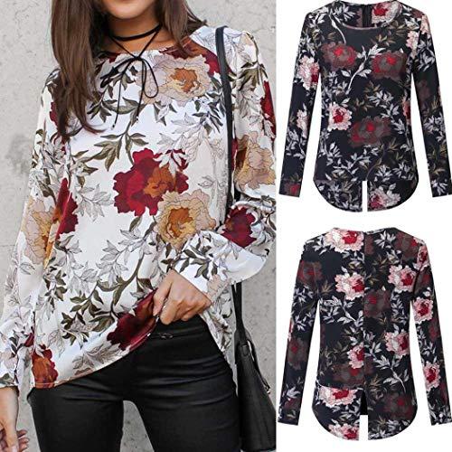 Manches Femmes Casual Shirt Lache Longues Noir Imprim Automne T Tops MuSheng Blouse 4wqEdS7S