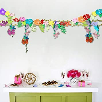 flower garland hawaiian tropical beach party decorations colorful
