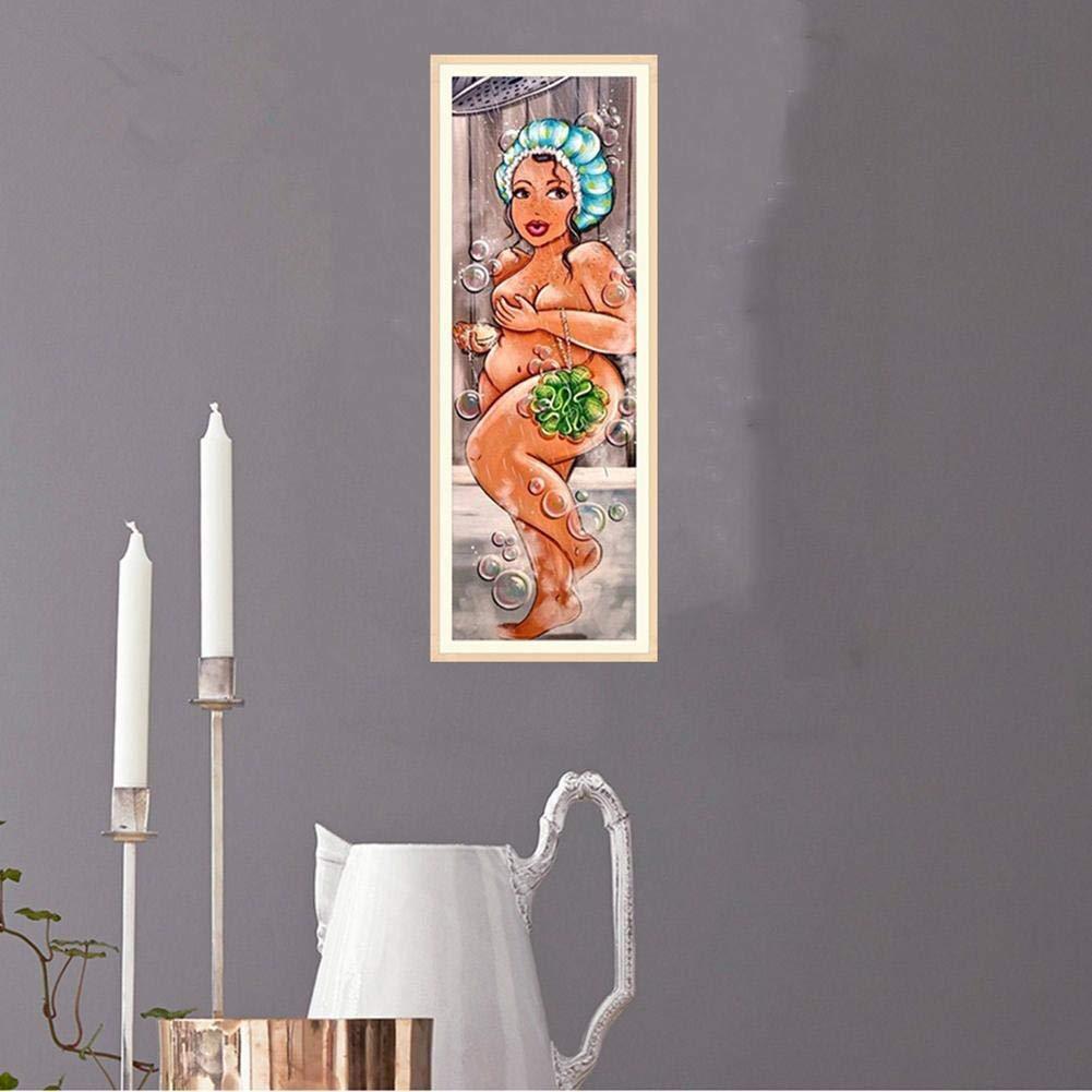 5D DIY Broca Completa Diamante Pintura Ducha Mujer Punto de Cruz Bordado