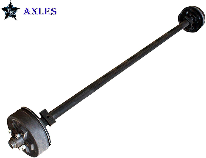 61//46 3.5k-3500 Lb Capacity Trailer Brake Axle Assembled Brake Axle 5 on 4.5 Bolt Pattern Straight Axle