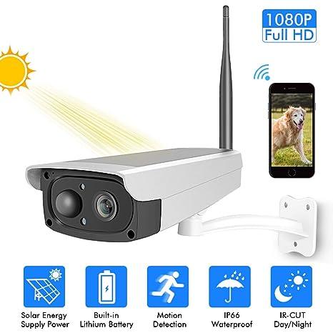 Cámara de Seguridad Cámara De Video Vigilancia Panel Solar ...