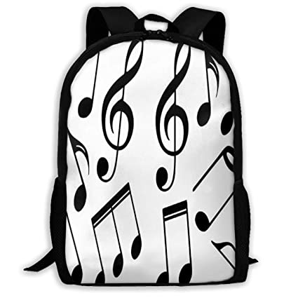 Amazon com: Backpack Music Symbols Womens School Backpacks Daypack