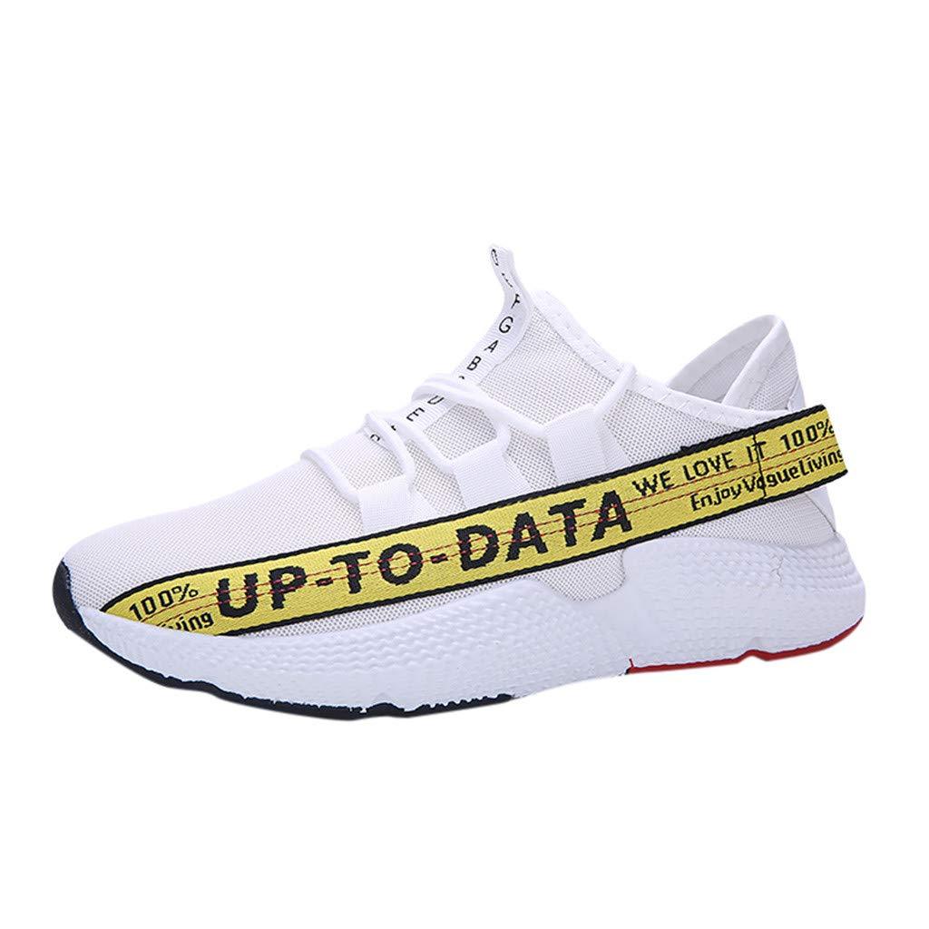 Zapatos para Correr Gimnasio Sneakers,JiaMeng Zapatos Salvajes de Moda Zapatillas de Deporte de Malla de Movimiento Transpirable Zapatos Zapatillas de Entrenamiento para Hombre