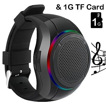 Reloj con altavoz Bluetooth, de la marca Frewico, para practicar deporte al aire libre.