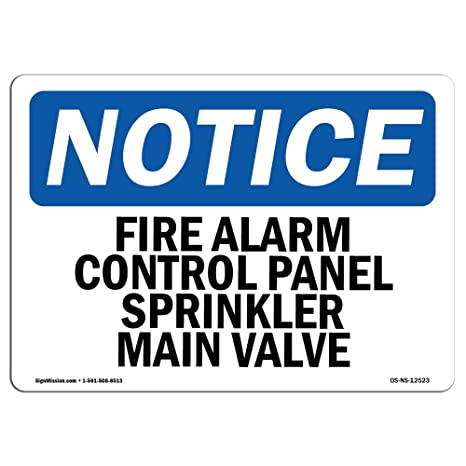 Amazon.com : OSHA Notice Sign - Fire Alarm Control Panel ...