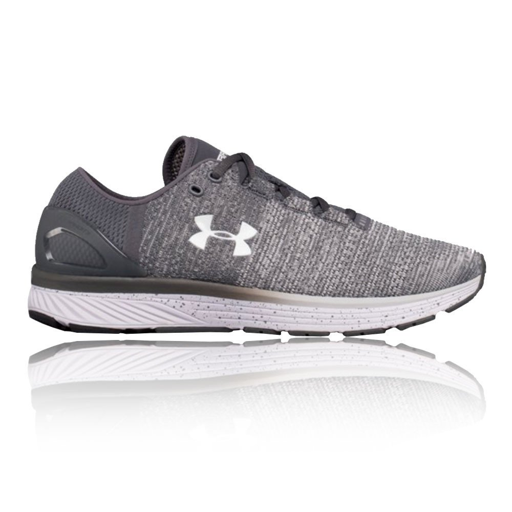 Under Armour Men's Charged Bandit 3 Running Shoe, Glacier (002)/Rhino Gray, 12