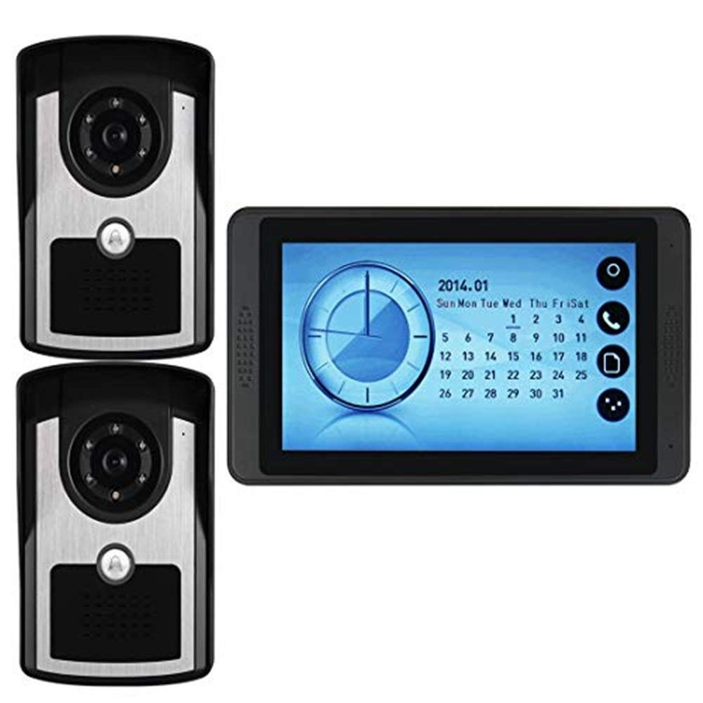 Video doorbell Video Doorbell-Video Intercom-7inch Monitor Smart Video Door Phone Kit Monitor Night Vision Electronically Controlled Unlocking Switch Power  AC  100-240v50Hz 60HZ