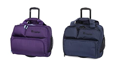 130a56dce IT Luggage Under Seat 2 Wheel Case 39cm Carry-on Luggage Grape ...
