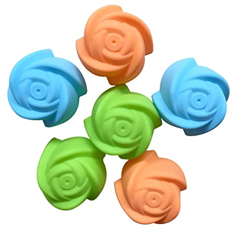 Ruiting Moldes de Pastel, Torta Silicona cavidad 3D Rosa Fondant Molde Herramientas de Decoración Jabón