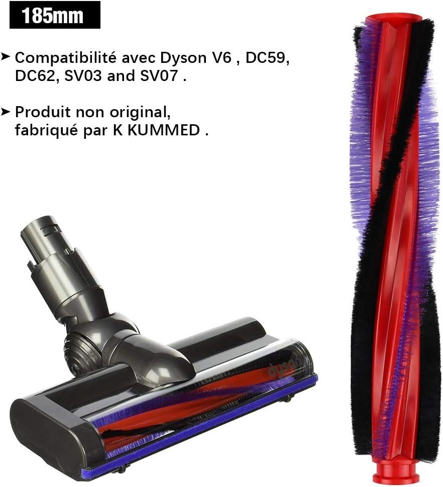 185mm Brosse Rouleau pour Aspirateur Dyson V6 DC62 SV03