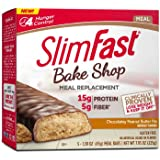 SlimFast Bakeshop Meal Replacement Bars - Chocolatey Peanut Butter - With 15g Of Protein & 5g Fiber, 1.59 Oz, 5 Count