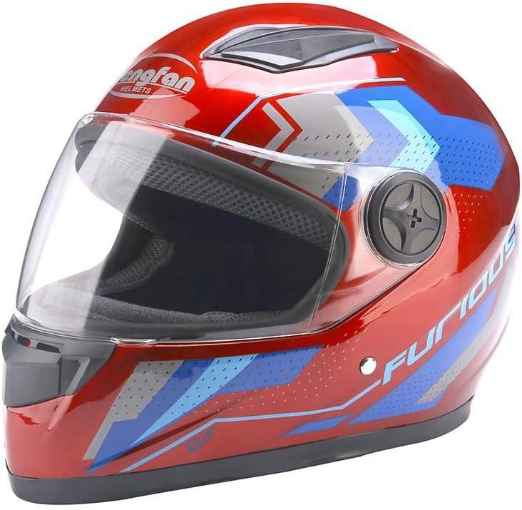 Integralhelm Helm Motorradhelm Winter Warmer Schutzhelm f/ür Elektromotor Lokomotive Motorrad Roller Helm ATpart Motorradhelm