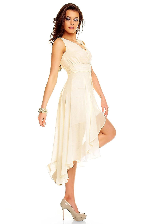 Vokuhila Abendkleid, Brautkleid, Cocktailkleid, Kleid aus Chiffon in ...