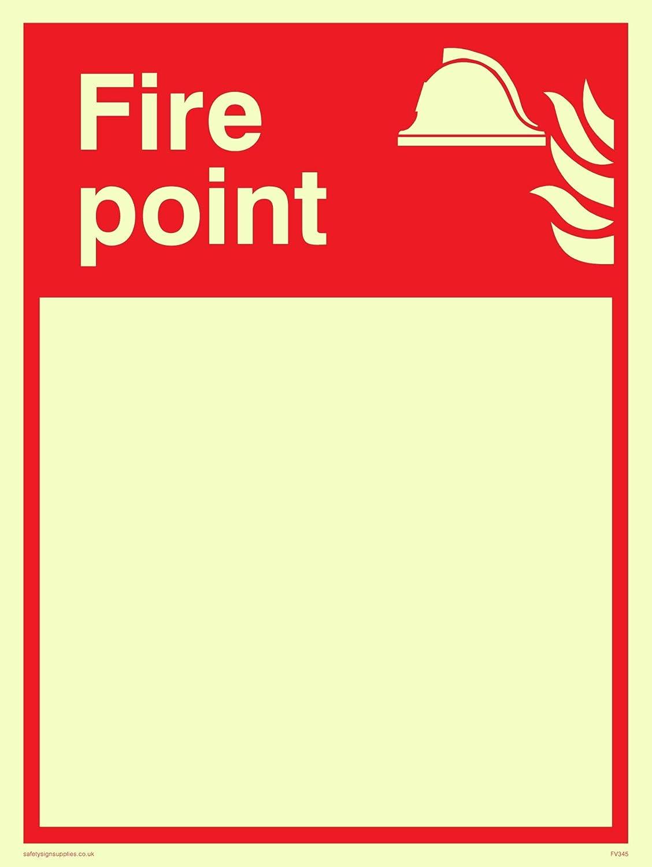Viking signos fv345-a5p-p Fire punto con espacio en blanco ...