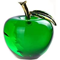 Waltz&F Crystal Apple Paperweight Craft Decoration (Green)