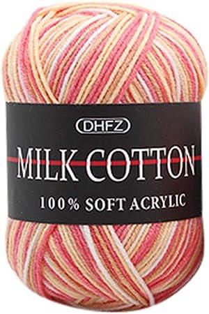 Ovillo de lana para tejer, de algodón suave y lana de bebé, creativo y colorido, 50 g, para tejer, crochet Colour H: Amazon.es: Hogar