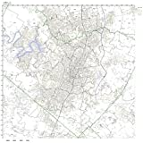 Austin, TX ZIP Code Map Laminated