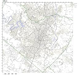 Austin, TX ZIP Code Map Laminated